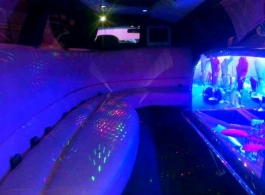 Pink stretch Limousine for wedding hire in Southampton